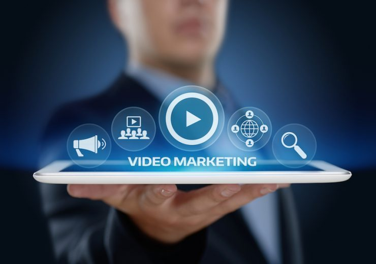 Video Marketing Advertising Businesss Internet Network Technology Concept